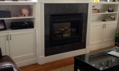 Majestic fireplace and mantel