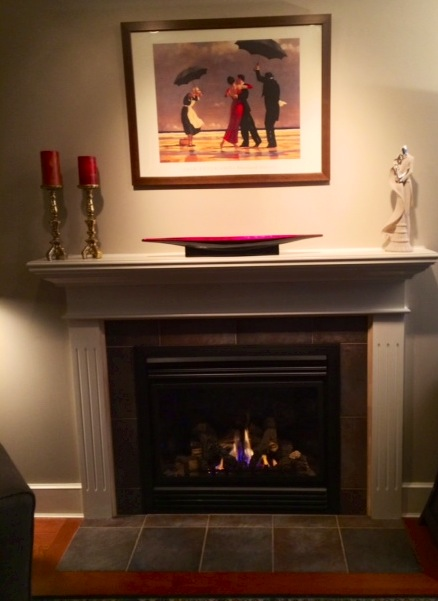 Cast stone fireplace coloring