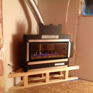 Steel Framing A Gas Direct Vent Horizontal Fireplace