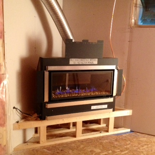 Steel Framing a Gas Direct Vent Horizontal Fireplace | Fireplace West