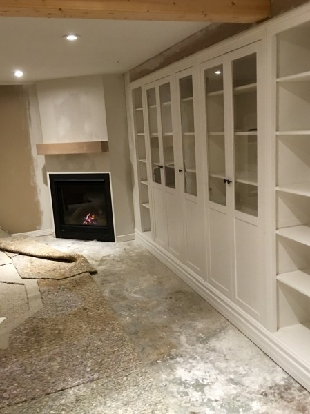 Napoleon GX36 gas fireplace, Ikea shelving built in by FW